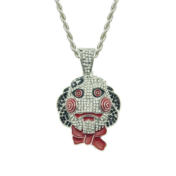 Hip Hop, masknecklace, Jewelry, Diamond Pendant