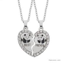 Necklace, Heart, mexican, friendnecklace