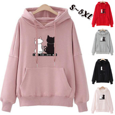 hooded, Winter, Long sleeved, Tops