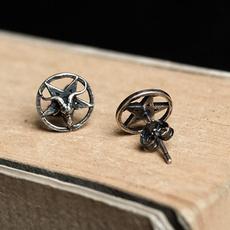 Sterling, Vintage, Goth, pentagram