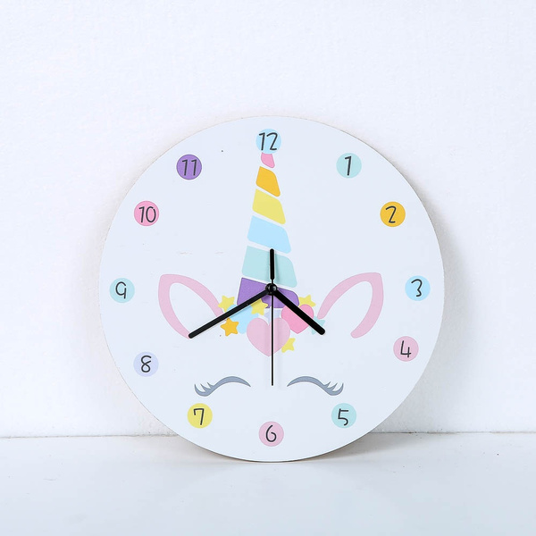 25cm Fashion Pony Head Wall Clock Children S Room Cartoon Wall Clock Bedroom Mute Clock Wish