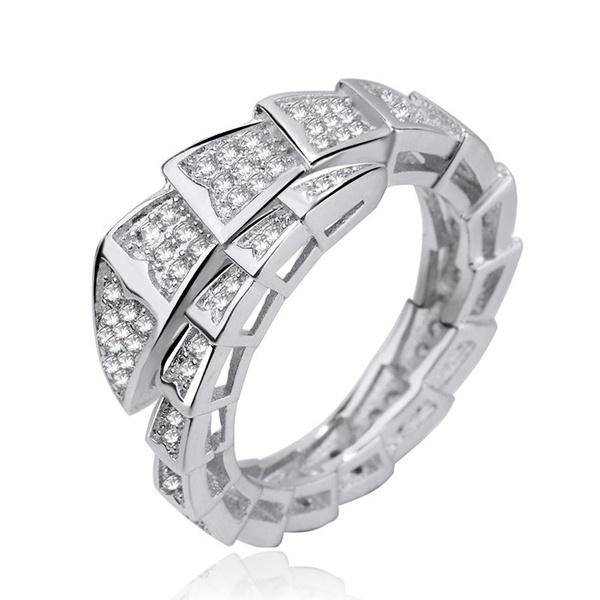 Sterling, Fashion, 925 silver rings, snakering