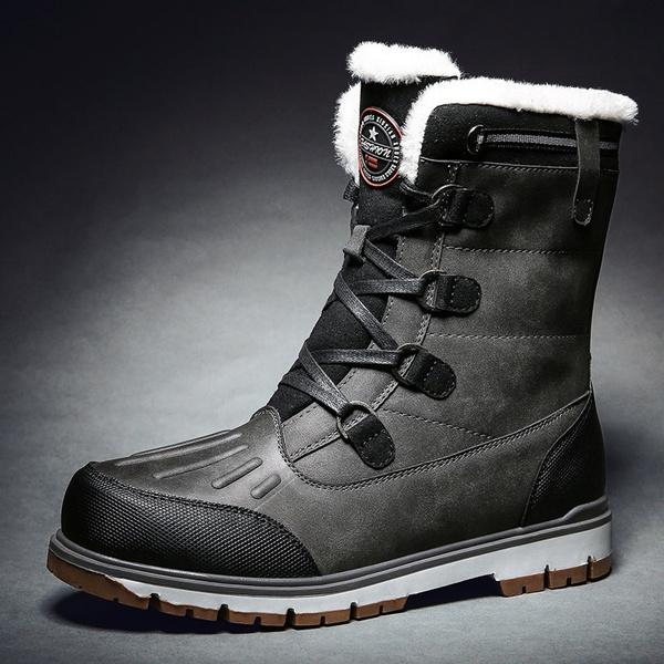 Mens Winter Snow Boots Waterproof Men's