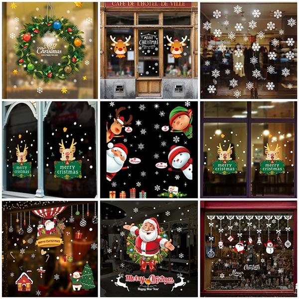 elk, festivalsticker, windowsticker, Christmas