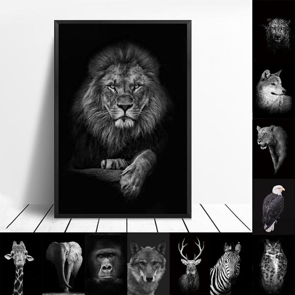 Wall Art, elephantpaintingart, zebrapainting, Deer