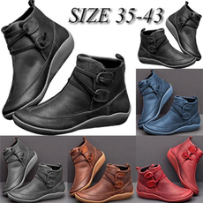 ankle boots, Plus Size, Leather Boots, leather shoes