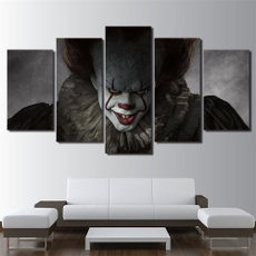pennywiseclownithorrorscary, canvasprint, Wall Art, Home Decor