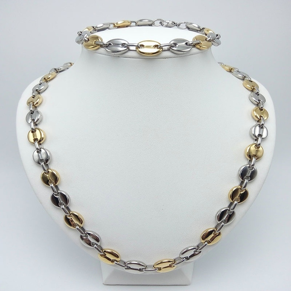 Steel, goldplated, Chain Necklace, necklaces for men