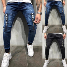 men jeans, slim, pants, rippedjean