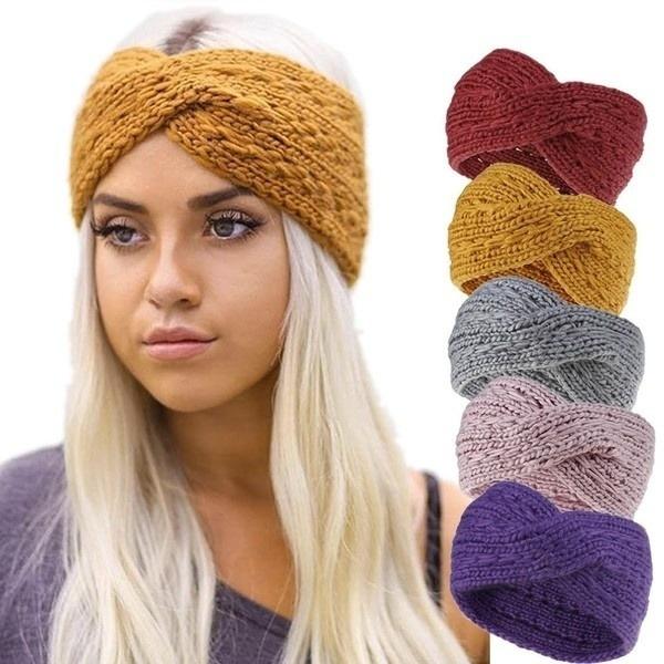 knittedhairband, Wool, winterhairband, Winter