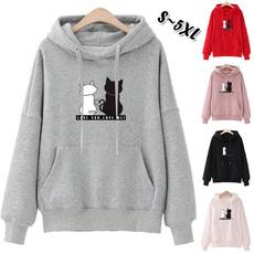 hooded, Winter, Long sleeved, Tops