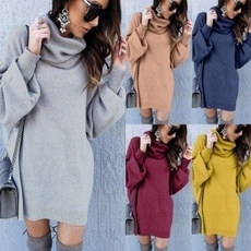 Mini, Plus Size, sweater dress, Winter