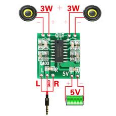 Mini, dualchannelamplifierboard, audioamplifierboard, amplifierboardmodule