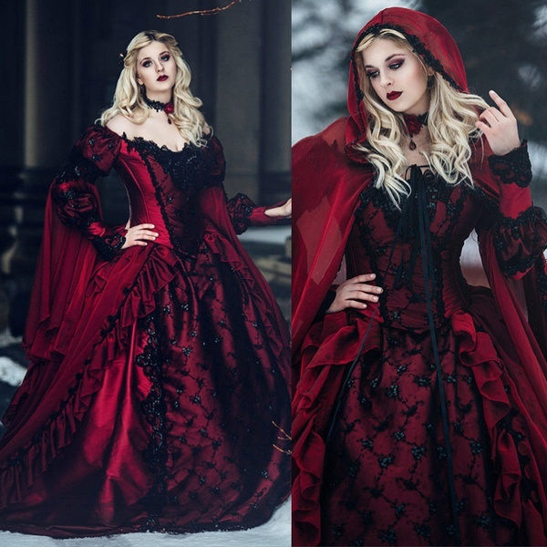gowns, medievaldres, Lace, Cosplay Costume
