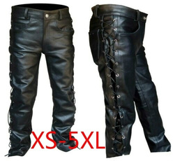 trousers, lacesup, pants, leather