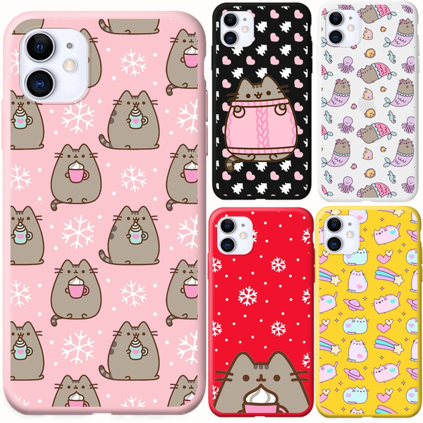 Cute funny lovely Pusheen Cat For Case for iPhone 11 Pro Max X XR XS MAX 7 8 6 S Plus Samsung Galaxy S9 S9 Plus S10 Plus S10e Six Huawei p30 20 Lite ...