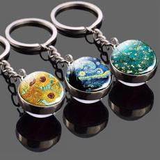 starrynightkeychain, Key Chain, Jewelry, Sunflowers