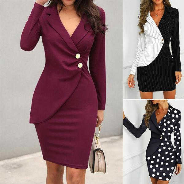Mini, Fashion, Blazer, officeladydres