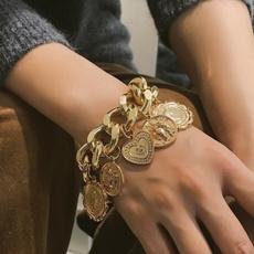Bracelet, Coins, Jewelry, hiphopbracelet