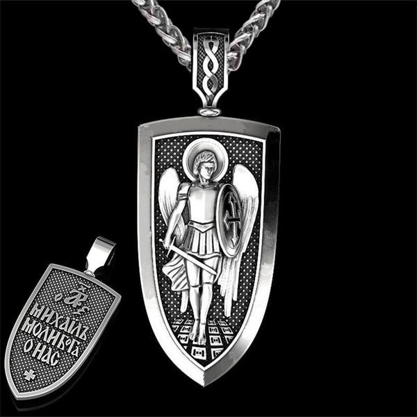 necklaces for men, shield, Cross Pendant, Men
