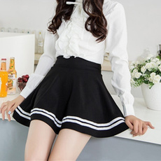summer skirt, high waist, schoolskirt, Skirts