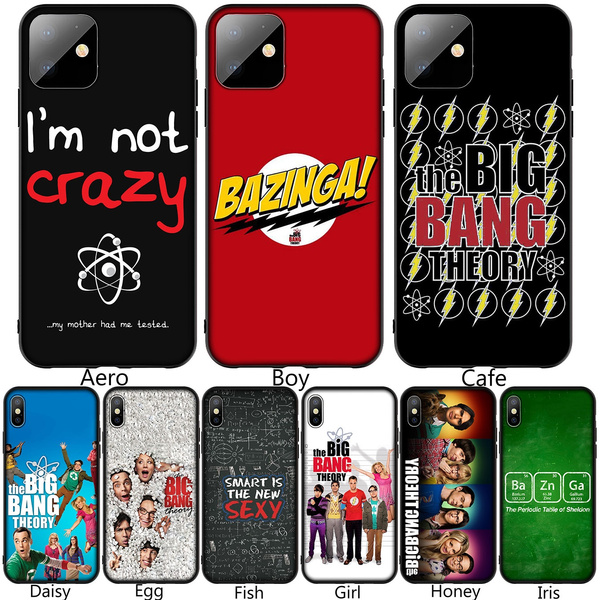 The Big Bang Theory Sheldon Soft Silicone Black TPU Cover Case for iPhone XR X XS 11 Pro Max 10 6 6S 7 8 Plus 5 5S SE Phone Case for Samsung Galaxy ...