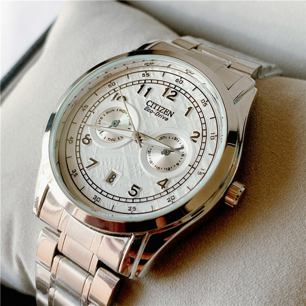 Steel, quartz, business watch, Simple
