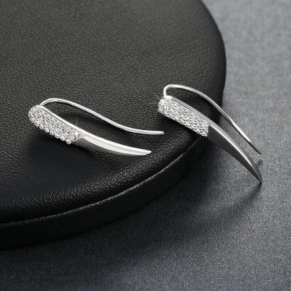 Sterling, DIAMOND, Gemstone Earrings, Angel
