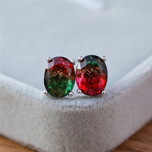 Sterling, Gemstone Earrings, Stud Earring, wedding earrings