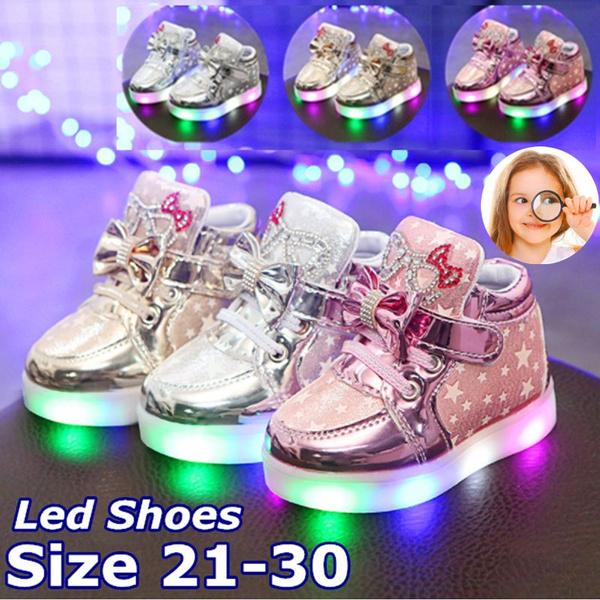21-30 Kids Led Shoes Children Lights