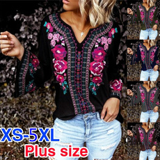 blouse, Plus Size, Spring/Autumn, Long Sleeve