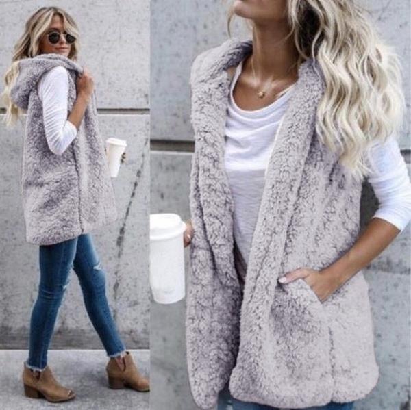 fur coat, Vest, vestcoat, Women Vest