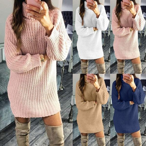dressesforwomen, robepullfemme, pullover sweater, Long Sleeve