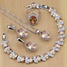 wedding ring, 925 silver rings, Earring, Women's Fashion