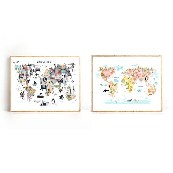 kidsroomdecor, Decor, art, nurseryworldmap