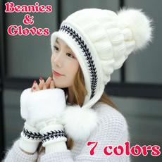 Winter, cottonglovesampbeanie, lovelybeaniesforwomen, Hats
