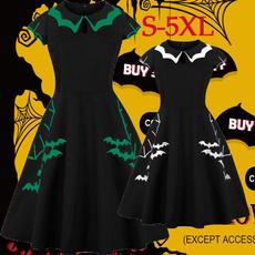 Halloween Costume, GOTHIC DRESS, Plus Size, skullprint