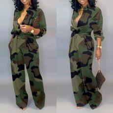Camouflage Leggings, Women, Fashion, wideleg