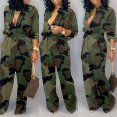 Camouflage Leggings, Fashion, wideleg, Long sleeved