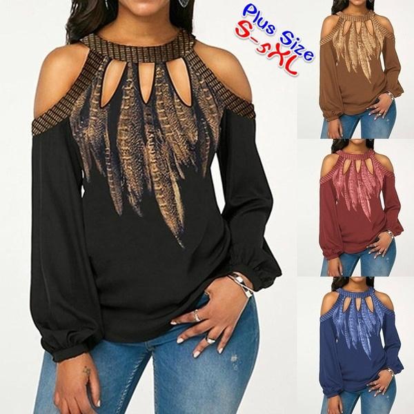 blouse, off shoulder top, Plus Size, Floral print