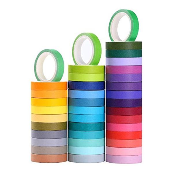 decorativemaskingdiytape, candycoloredrainbowpapertape, giftwrappingtape, maskingdiytape