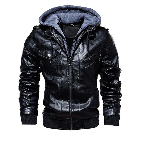 motorcyclejacket, collar slim, Fashion, Coat