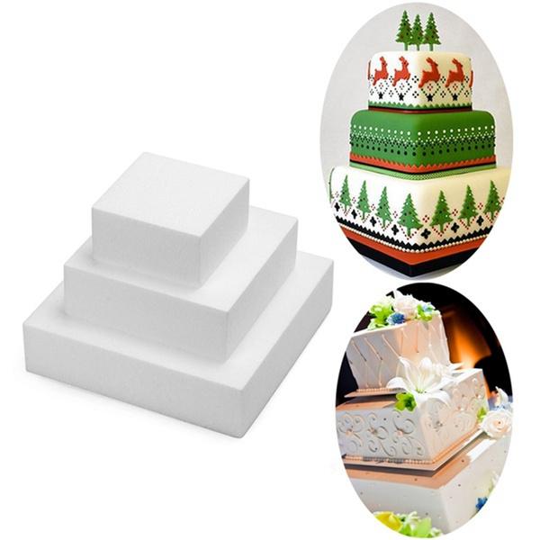 Bakeware, squareshape, dummycakemodel, polystyrene