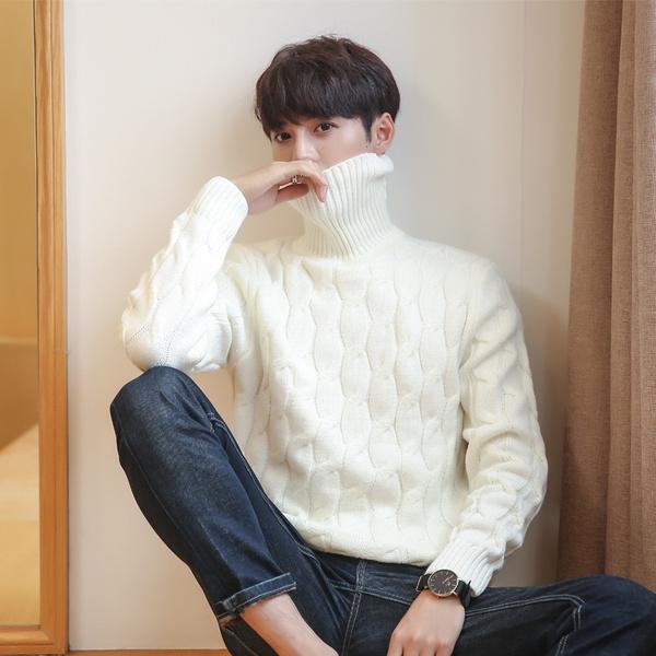 mencableknitsweater, jumperformen, Winter, menknitwear