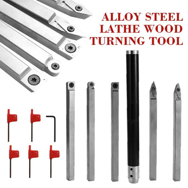 Alloy Steel Lathe Wood Turning Tool Carbide Insert Wrench Cutter Aluminum Alloy