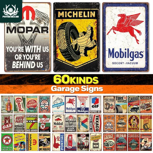 Decor, metalsign, michelin, Vintage
