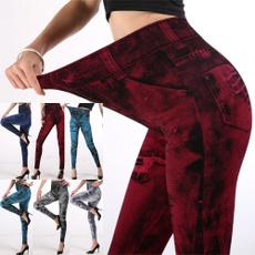 Leggings, leggingsamptightjean, Elastic, womens leggings