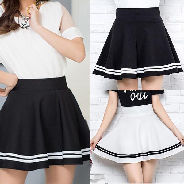 Mini, Pleated Skirt, プリーツスカート, koreanversion