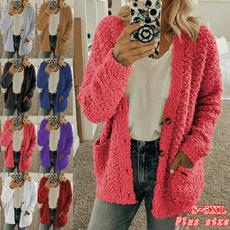 casual coat, blouse, Women Sweater, Winter
