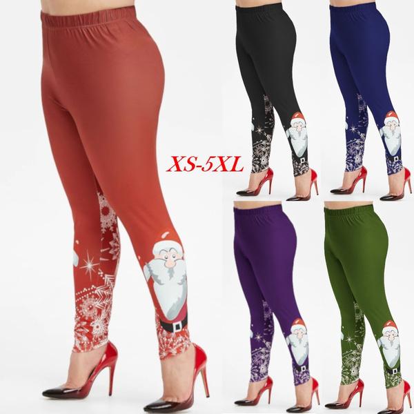 Leggings, Plus Size, Christmas, Women Leggings